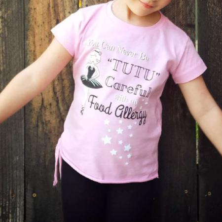 Food Allergy Ballerina Graphic Tee