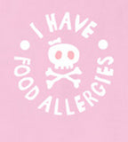 """I have food allergies"", allergy awareness t-shirt, pink - allergypunk - 5"