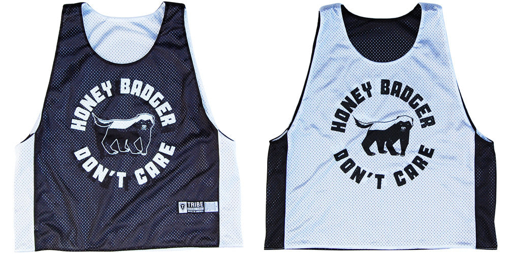 New Honey Badger Lacrosse Reversible Pinnie