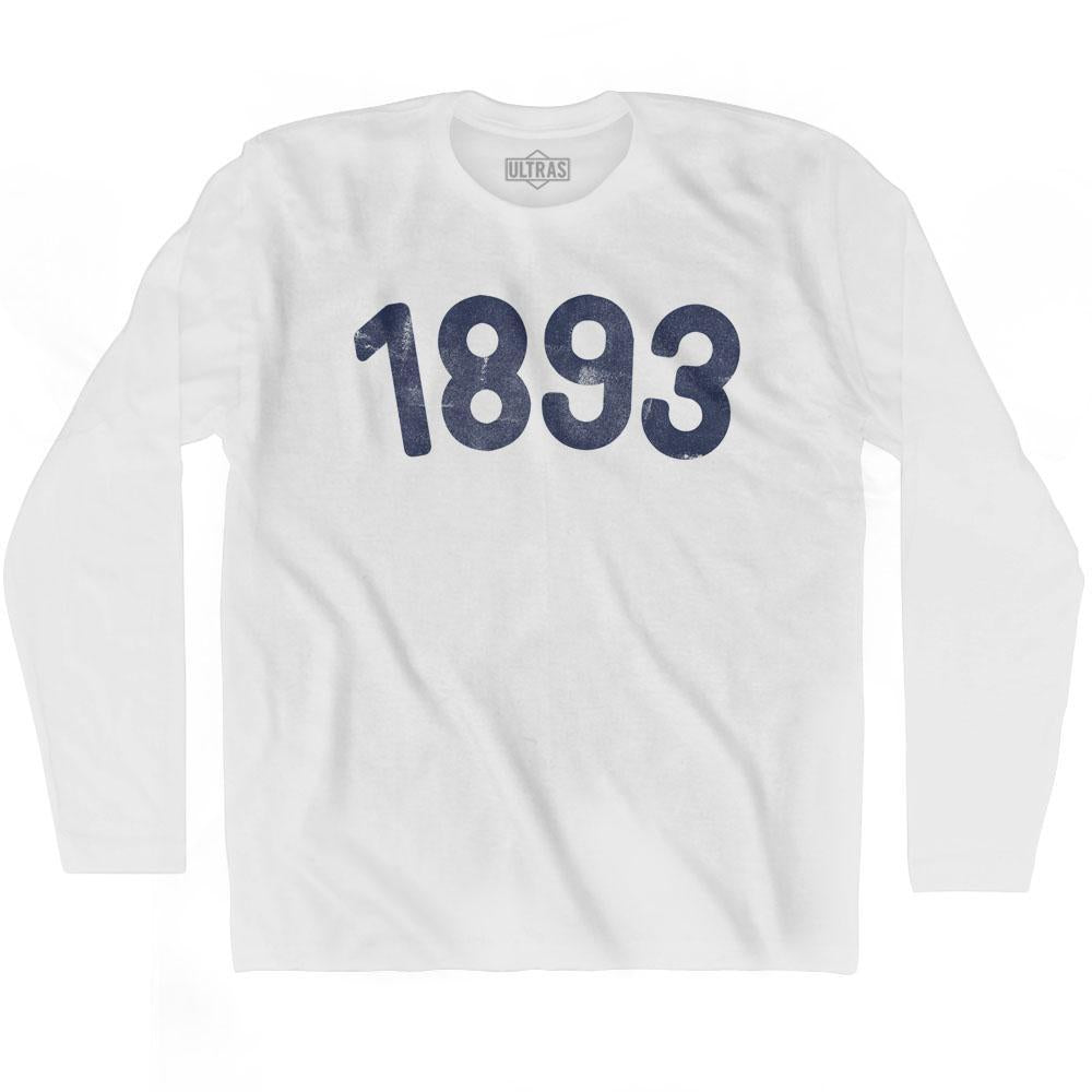 1893 Year Celebration Adult Cotton Long Sleeve T-shirt by Ultras