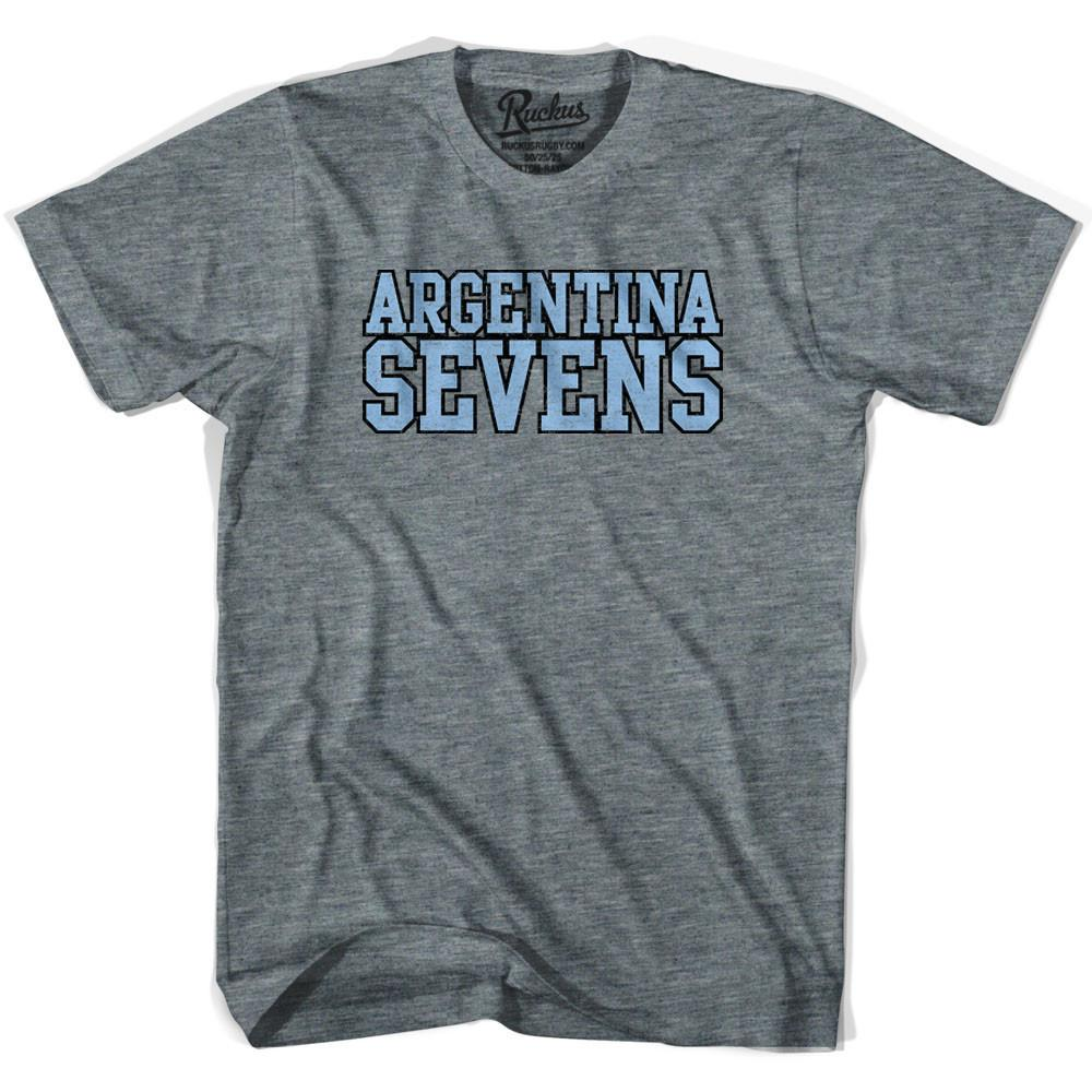 Argentina Sevens Rugby T-shirt in Athletic Grey by Ruckus Rugby