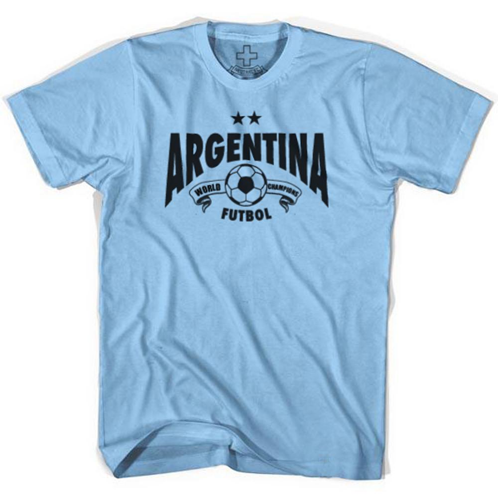 Argentina World Champions T-shirt in Baby Blue by Neutral FC