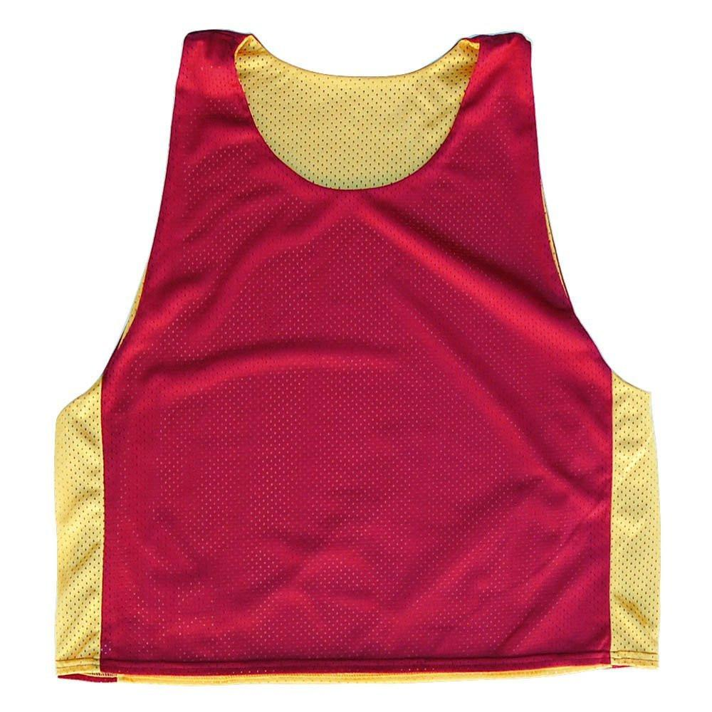 Cardinal and Yellow Reversible Lacrosse Pinnie in Cardinal & Yellow by Tribe Lacrosse
