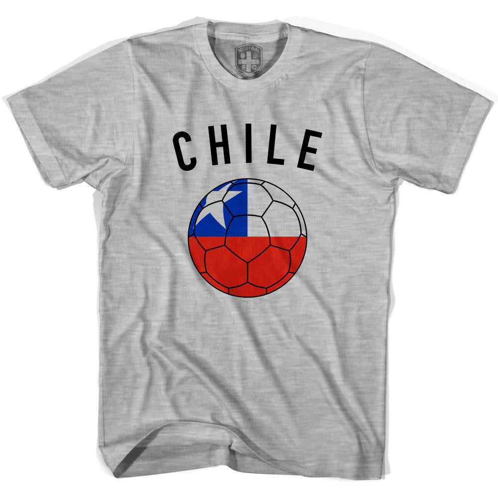 Chile Soccer Ball T-shirt in Heather Grey by Neutral FC