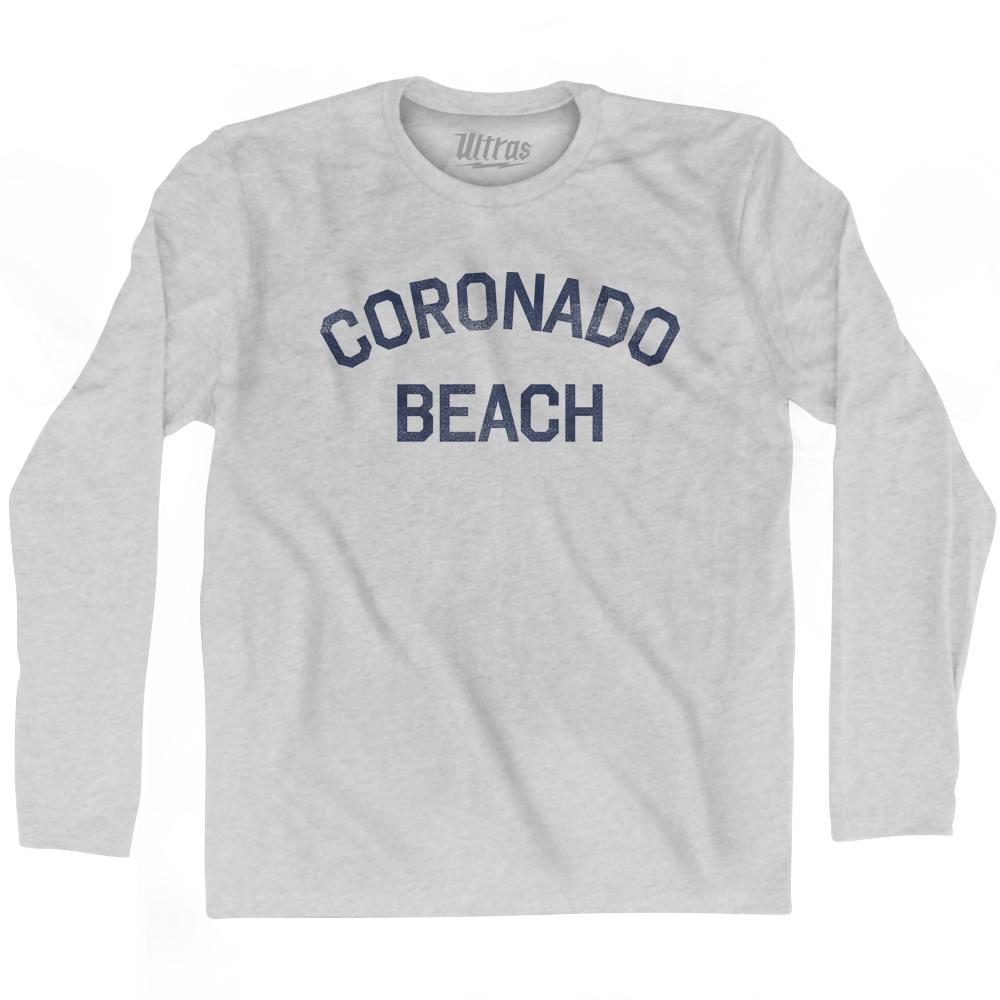 Coronado Beach Adult Cotton Long Sleeve T-Shirt by Ultras