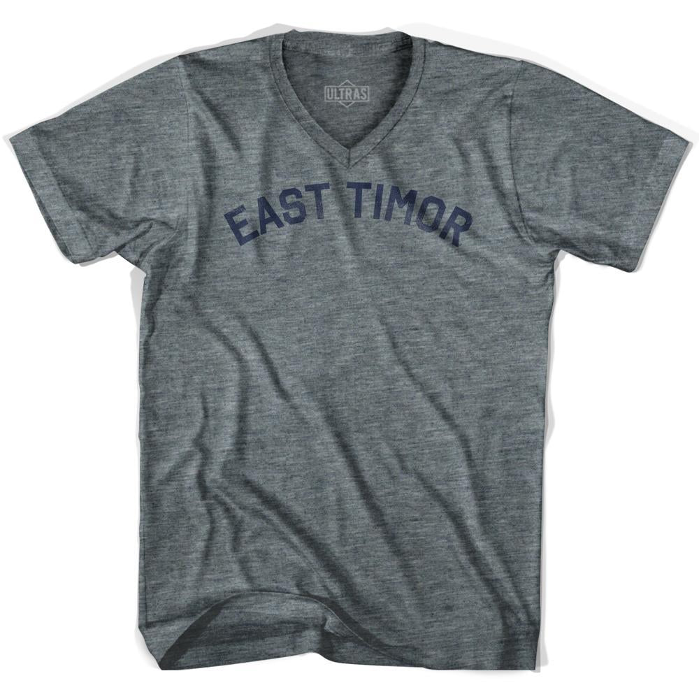 East Timor Vintage City Adult Tri-Blend V-neck T-shirt by Ultras
