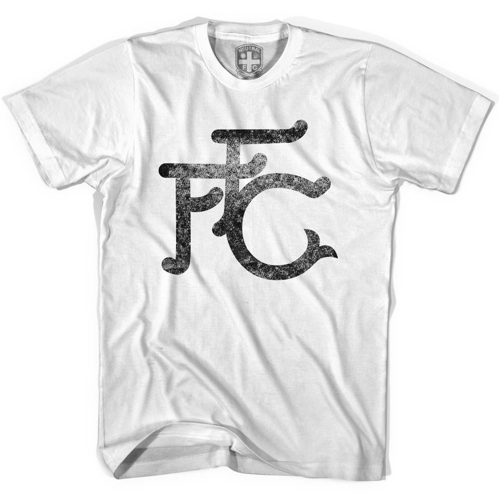 Fulham FFC Vintage Crest T-shirt in White by Neutral FC