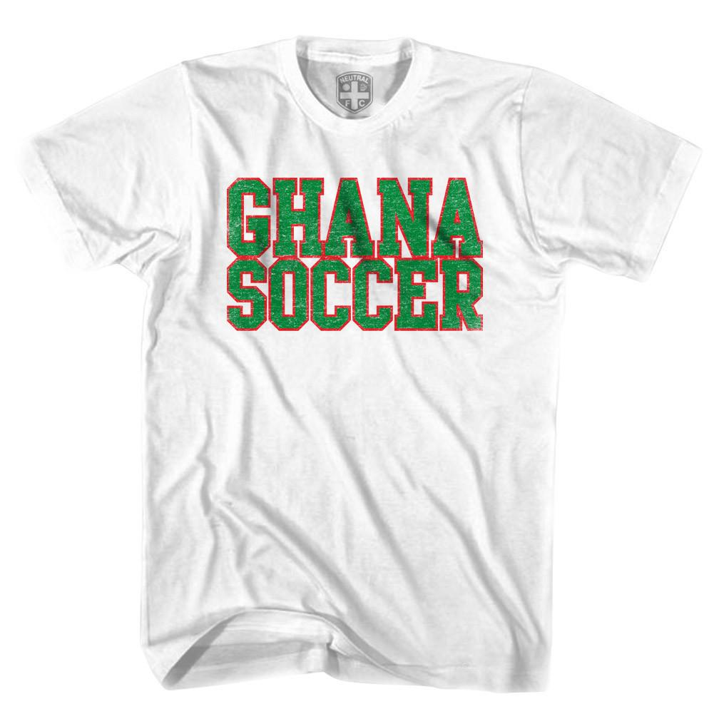 Ghana Soccer Nation T-shirt in White by Neutral FC
