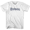 Hawaii Old Town Font T-shirt By Ultras