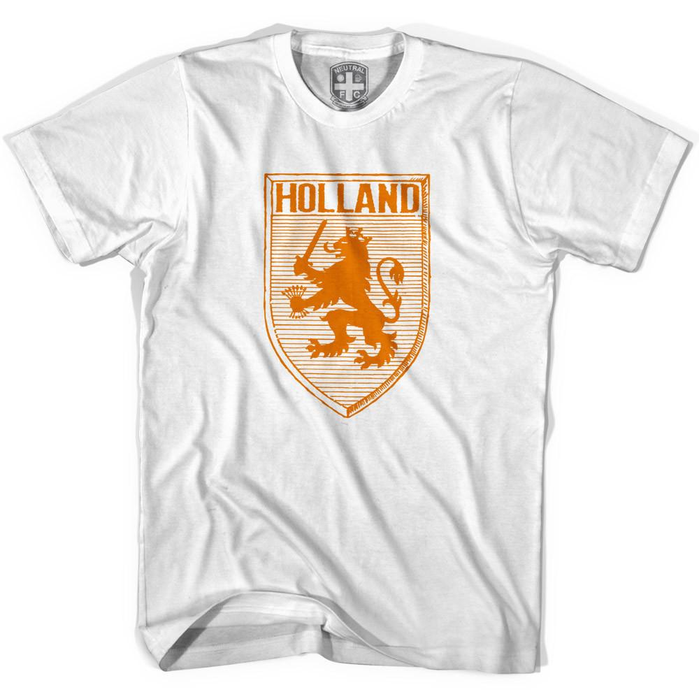 Holland Lion Shield T-shirt in White by Neutral FC