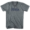 Idaho Old Town Font V-neck T-shirt by Ultras