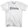 Womens Illinois Old Town Font T-shirt By Ultras