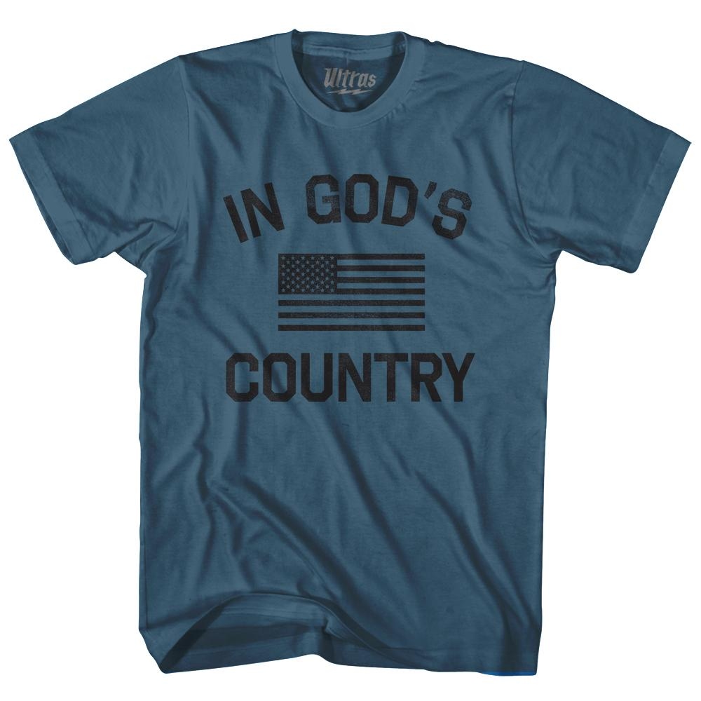 In God's Country Adult Cotton T-Shirt by Ultras