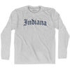 Indiana Old Town Font Long Sleeve T-shirt