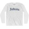 Indiana Old Town Font Long Sleeve T-shirt By Ultras