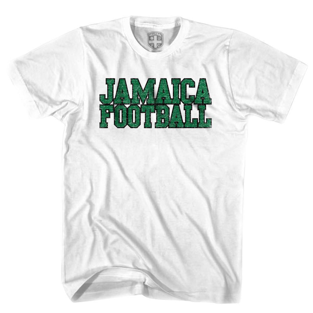 Jamaica Football Nation Soccer T-shirt in White by Neutral FC