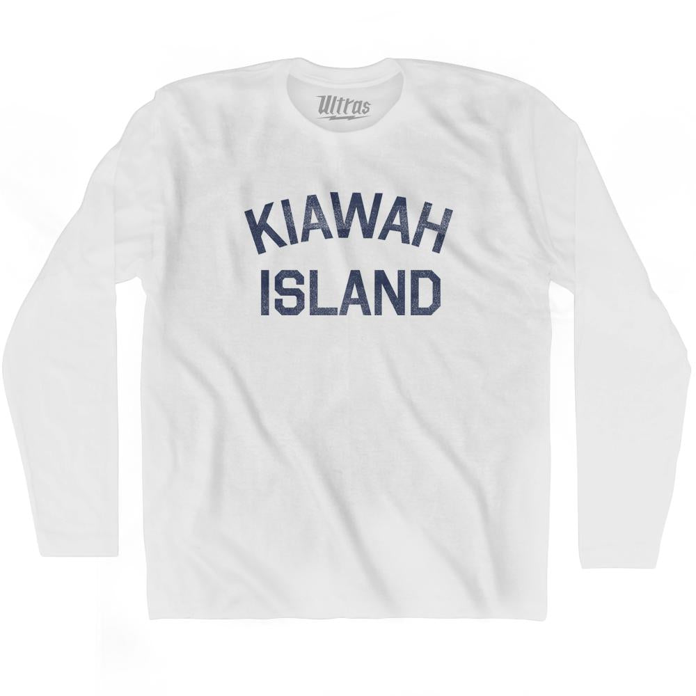 Kiawah Island Adult Cotton Long Sleeve T-Shirt by Ultras
