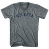 Kolkata Vintage City Adult Tri-Blend V-neck T-shirt by Ultras