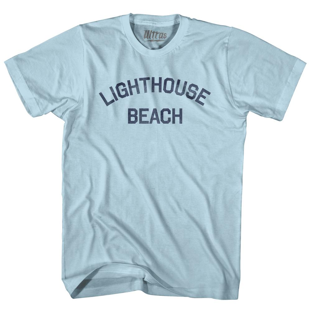 Lighthouse Beach Adult Cotton T-Shirt by Ultras