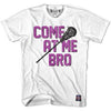Come At Me Bro Middie T-shirt in White by Tribe Lacrosse