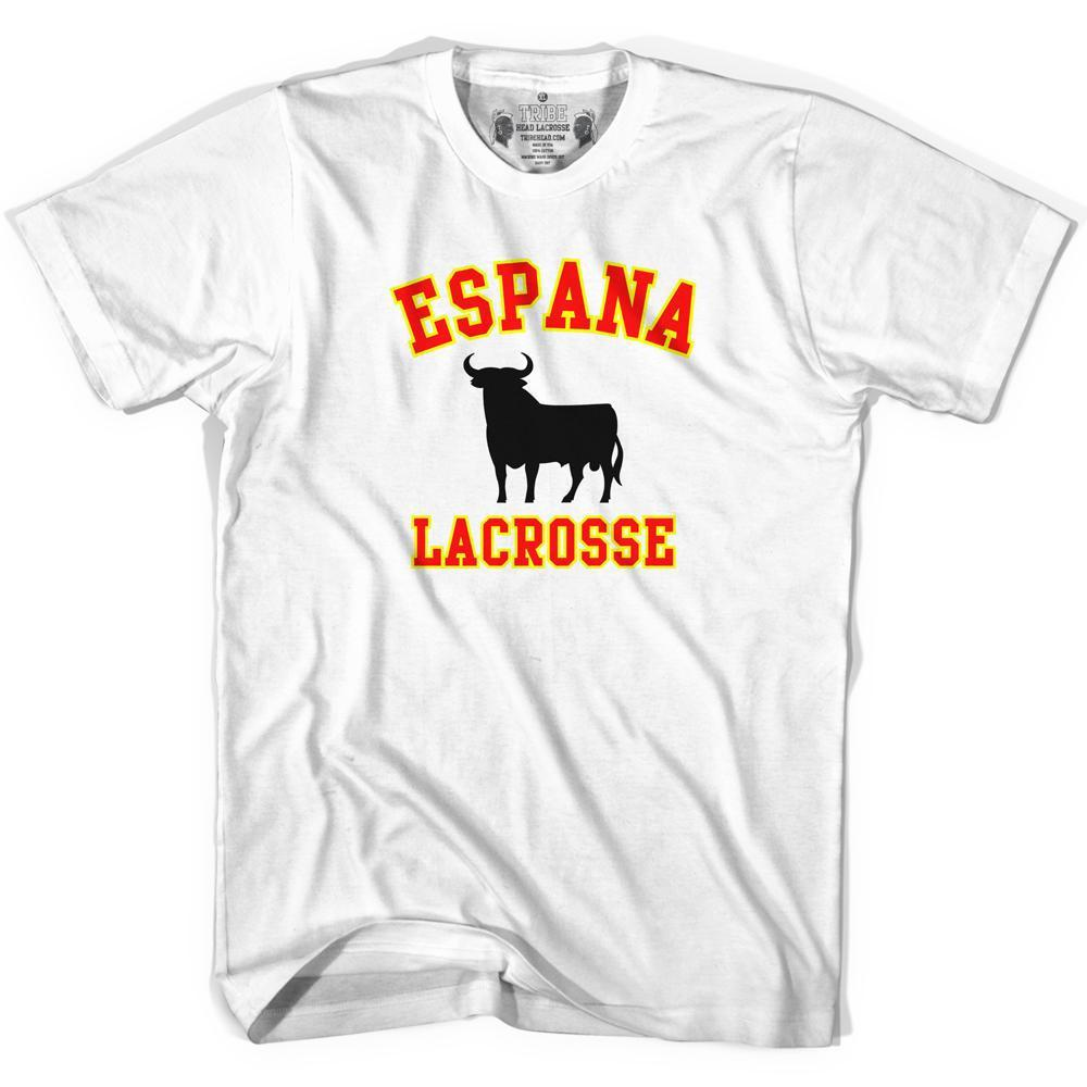 Espana Bull Lacrosse T-shirt in White by Tribe Lacrosse