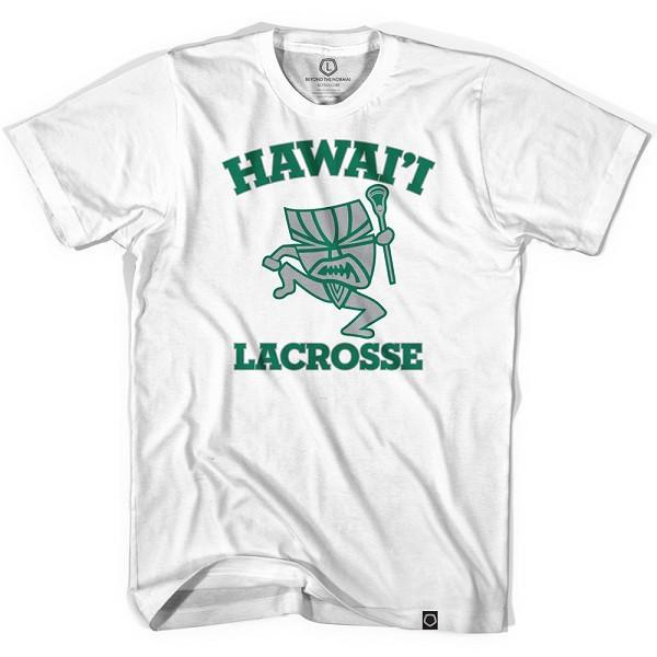 Hawaii Tiki Warrior T-shirt in White by Tribe Lacrosse