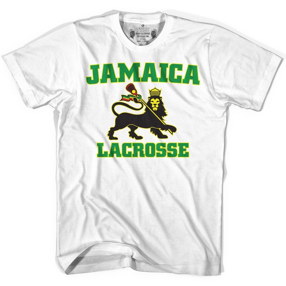 Jamaica Lacrosse T-shirt in White by Tribe Lacrosse