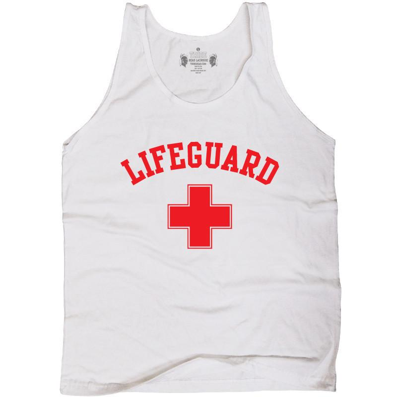 Life Lacrosse Tank Top in White by Tribe Lacrosse