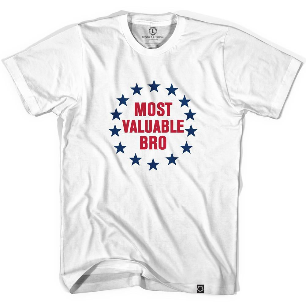 MVB Most Valuable Bro T-shirt in White by Tribe Lacrosse