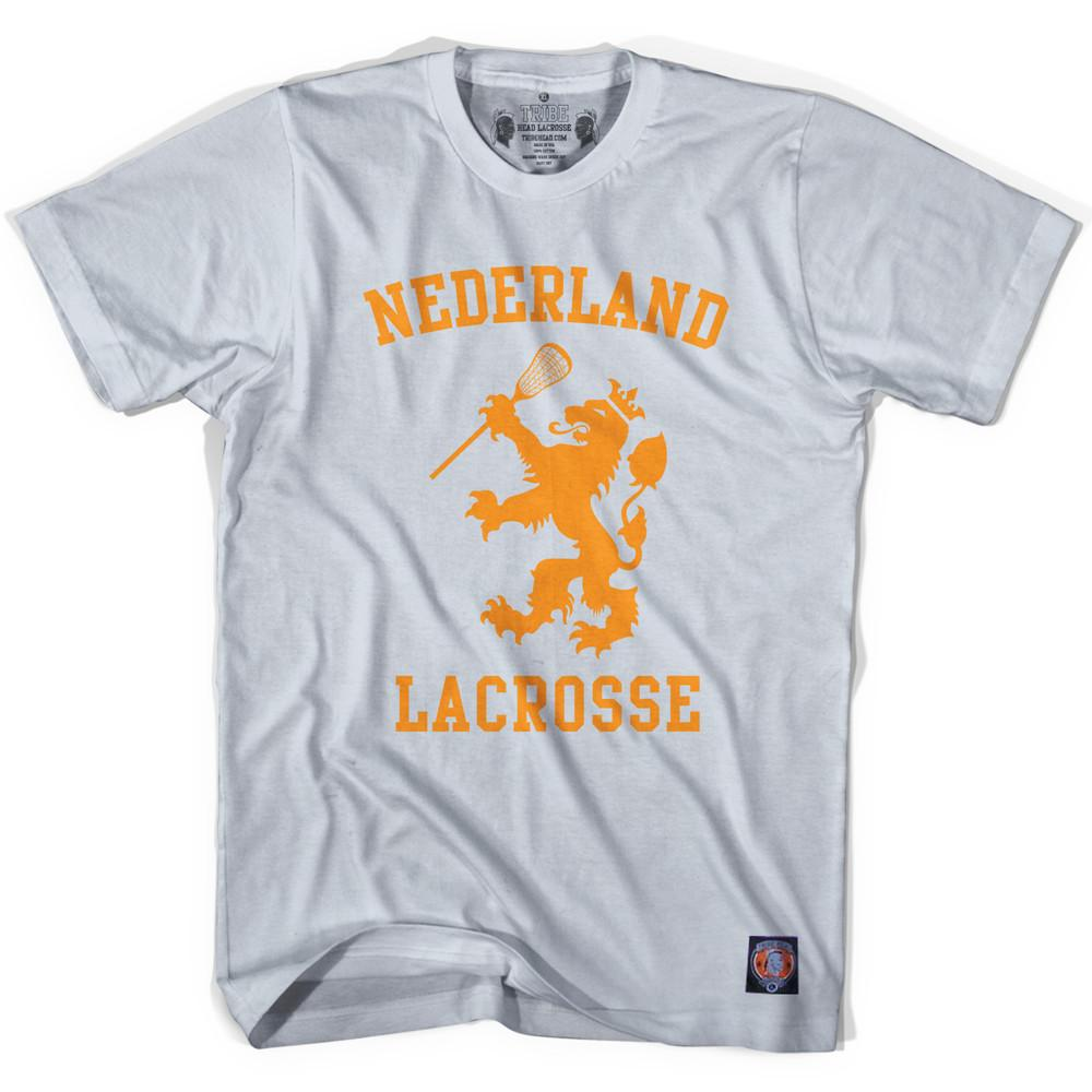 Nederland Lacrosse Silver T-shirt in Silver by Tribe Lacrosse