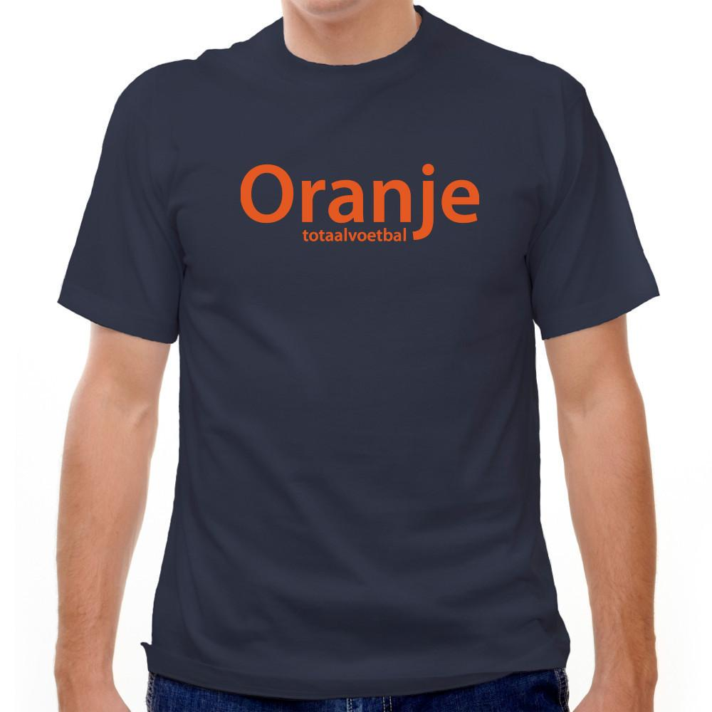 Holland Oranje Totaal Voetball Navy T-Shirt in Navy by Neutral FC