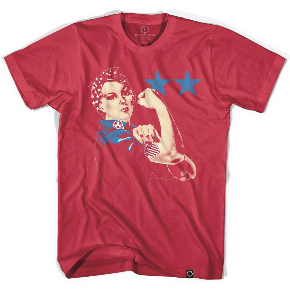 Rosie We Can Do It Soccer T-shirt in Red by Neutral FC