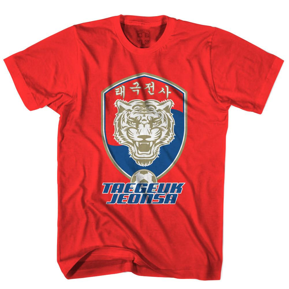 South Korea Tiger Crest T-shirt in Red by Neutral FC