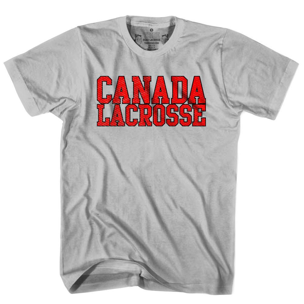 Canada Lacrosse Nation T-shirt in Heather Grey by Tribe Lacrosse