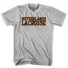 Netherlands Lacrosse Nation T-shirt in Heather Grey by Tribe Lacrosse
