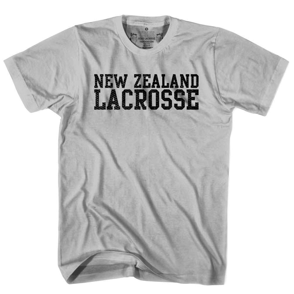 New Zealand Lacrosse Nation T-shirt in Heather Grey by Tribe Lacrosse