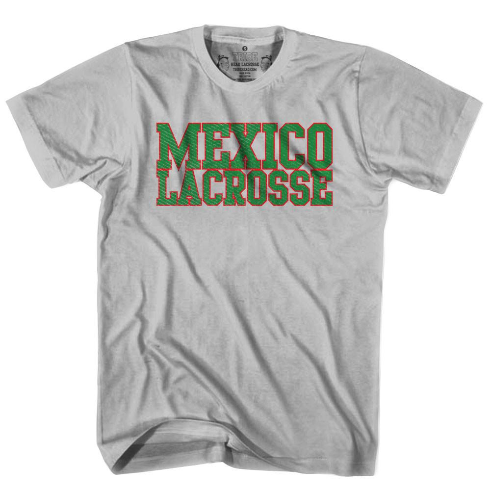 Mexico Lacrosse Nation T-shirt in Heather Grey by Tribe Lacrosse