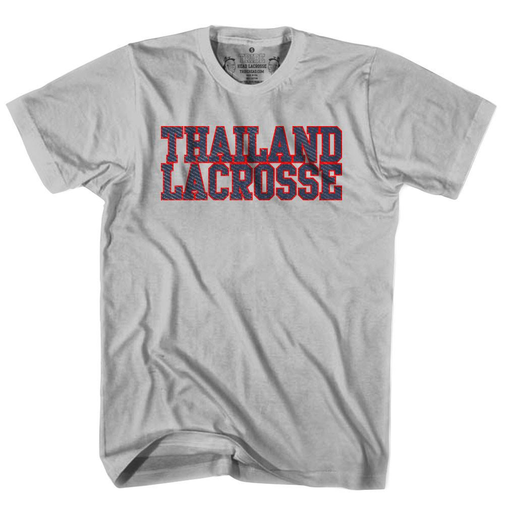 Thailand Lacrosse Nation T-shirt in Heather Grey by Tribe Lacrosse