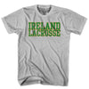 Ireland Lacrosse Nation T-shirt in Heather Grey by Tribe Lacrosse