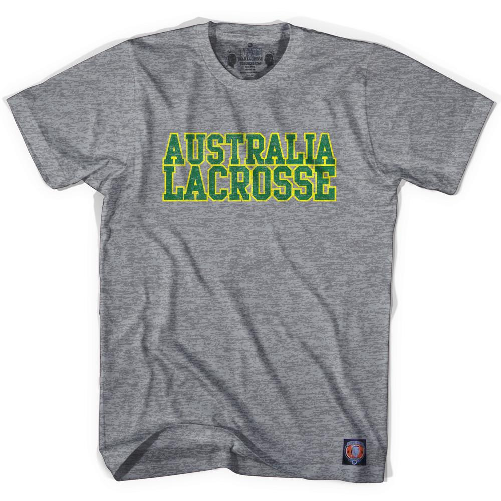 Australia Lacrosse Nation T-shirt in Athletic Grey by Tribe Lacrosse