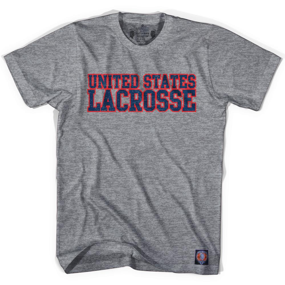 United States Lacrosse Nation T-shirt in Athletic Grey by Tribe Lacrosse