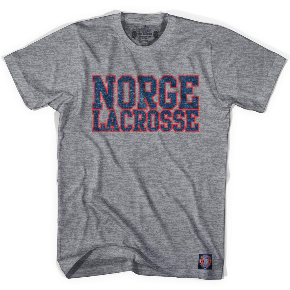 Norway Lacrosse Nation T-shirt in Athletic Grey by Tribe Lacrosse
