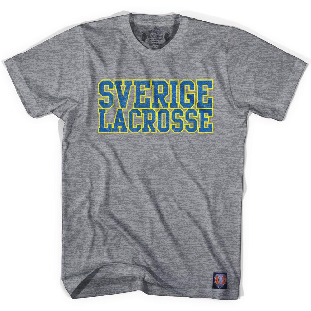 Sweden Lacrosse Nation T-shirt in Athletic Grey by TRIBE LACROSSE
