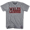 Wales Lacrosse Nation T-shirt in Athletic Grey by Tribe Lacrosse