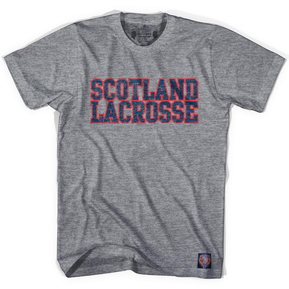 Scotland Lacrosse Nation T-shirt in Athletic Grey by Tribe Lacrosse