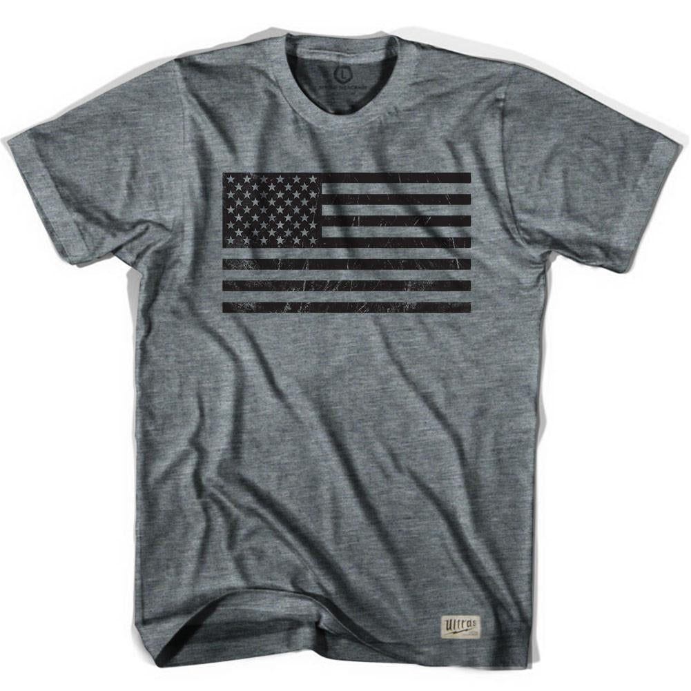 American Black Flag Soccer T-shirt in Athletic Grey by Ultras