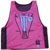 Tuxedo Pink and Black Lacrosse Pinnie in Black & Flo Pink by Tribe Lacrosse