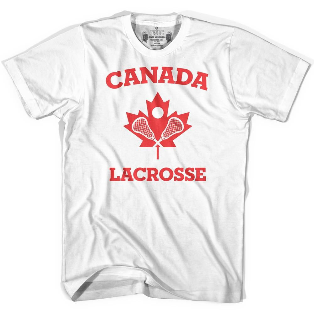 Canada Lacrosse T-shirt in White by Tribe Lacrosse