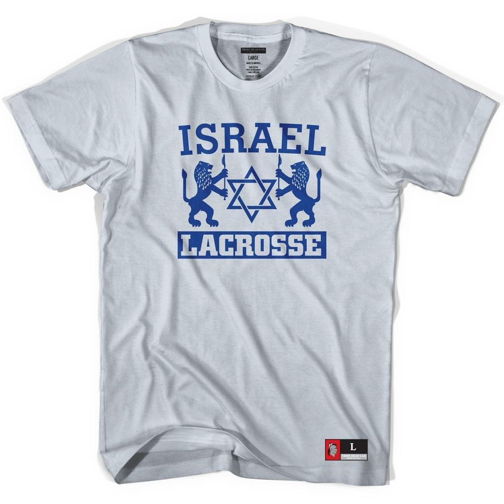 Israel Crest Lacrosse T-shirt in Cool Grey by Tribe Lacrosse