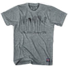 Vintage Lacrosse Sticks T-shirt in Athletic Grey by Tribe Lacrosse